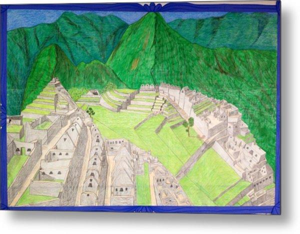 Machu Picchu Metal Print by Yusbel Lopez