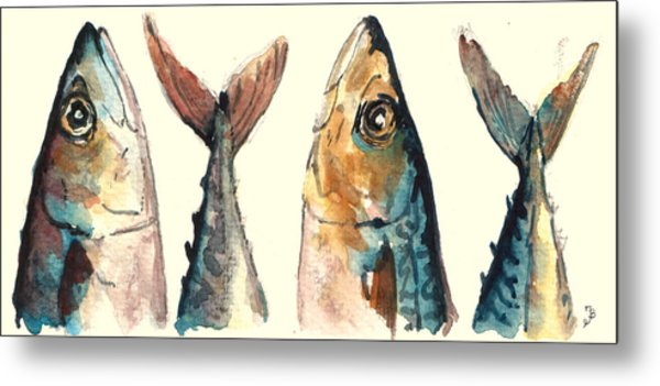 Mackerel Fishes Metal Print