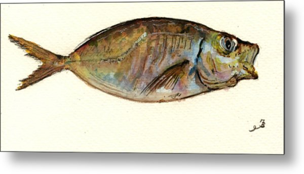 Mackerel Scad Metal Print