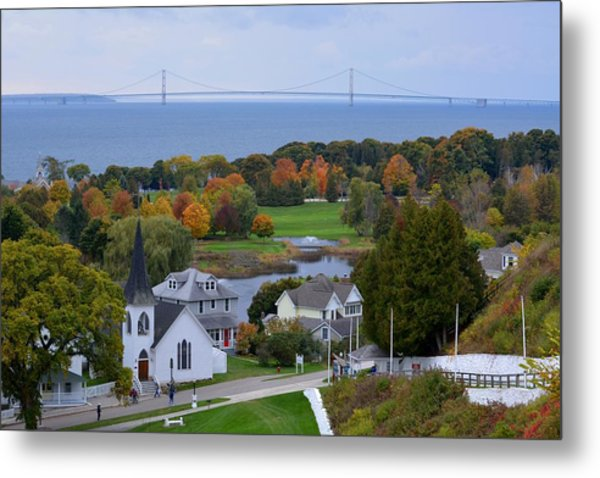 Mackinac Autumn Metal Print