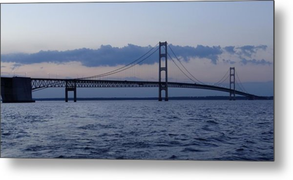 Mackinac Bridge At Eventide Metal Print