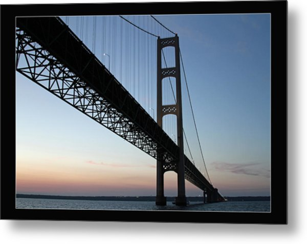 Mackinac Bridge At Sunset Metal Print