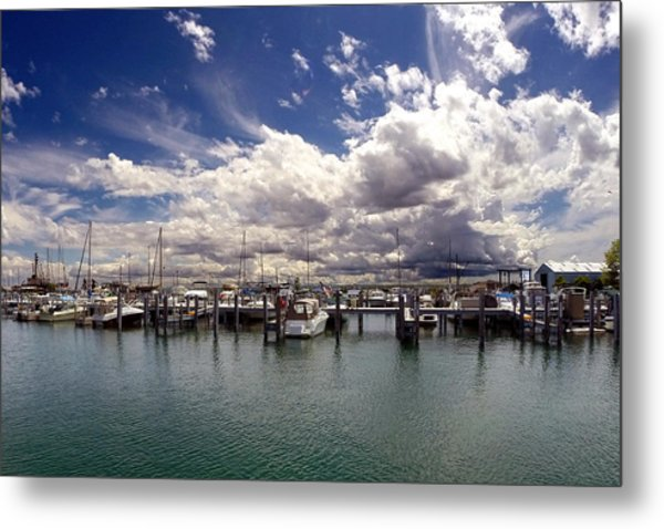 Mackinaw City Marina Metal Print
