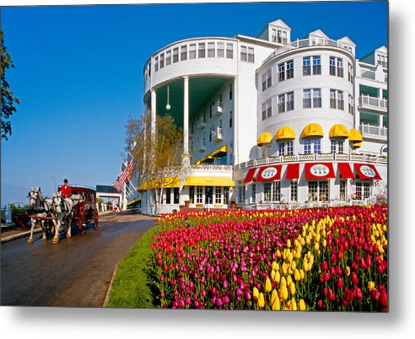 Mackinac Grand Hotel Metal Print