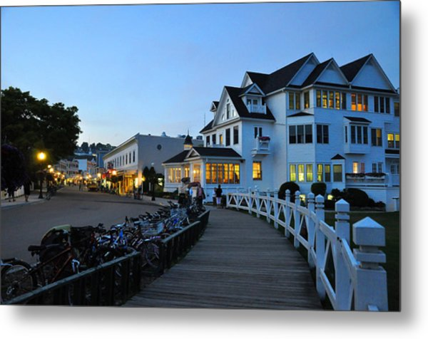 Mackinac Island At Dusk Metal Print