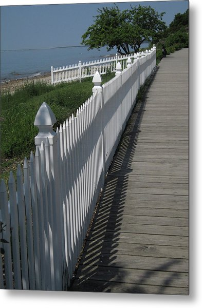 Mackinac Island Boardwalk Metal Print