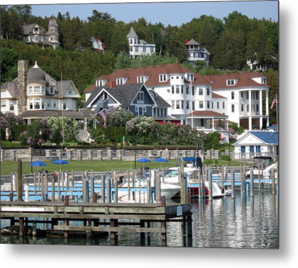 Mackinac Island Docks Metal Print