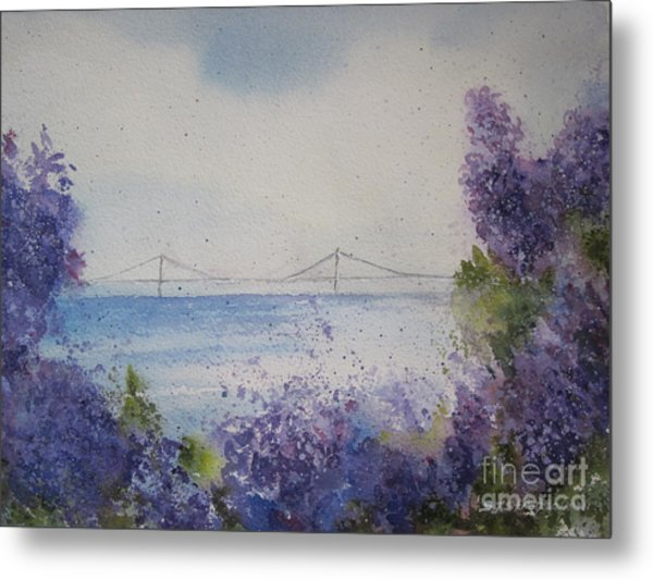 Mackinac Island Lilacs Metal Print