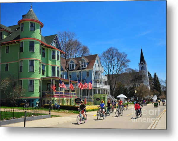 Mackinac Island Waterfront Street Metal Print
