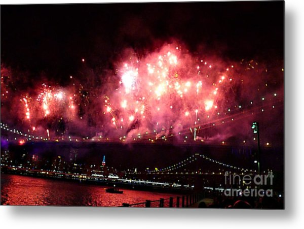 Macy's Spectactual 2014 Fireworks Metal Print