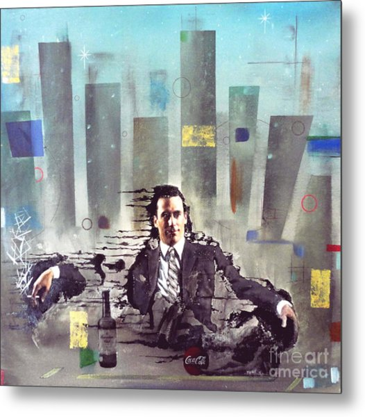 Mad Men Disintegration Of Don Draper Metal Print