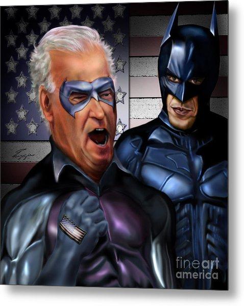 Mad Men Series 3 Of 6 - Obama And Biden Metal Print