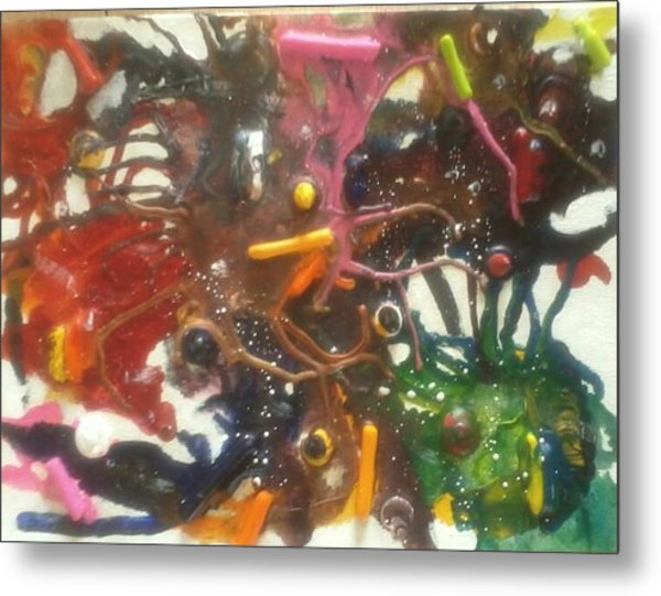 Maddness Metal Print by April  Weller
