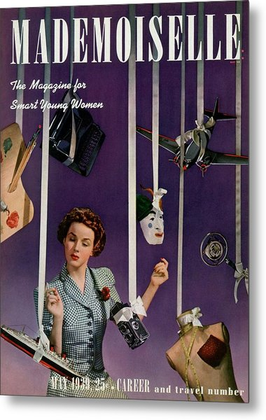 Mademoiselle Cover Featuring A Model Metal Print