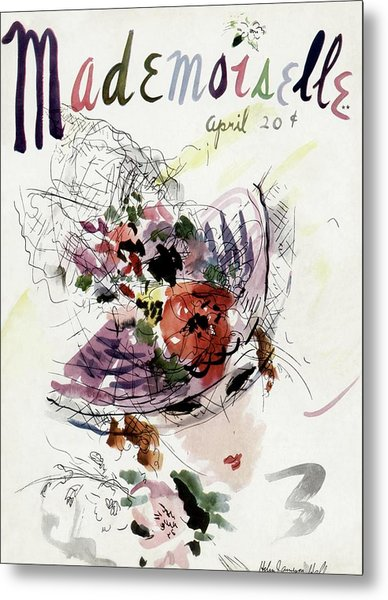 Mademoiselle Cover Featuring An Illustration Metal Print