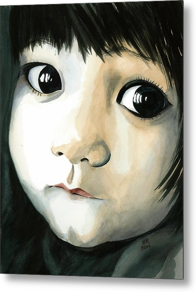 Madi's Eyes Metal Print