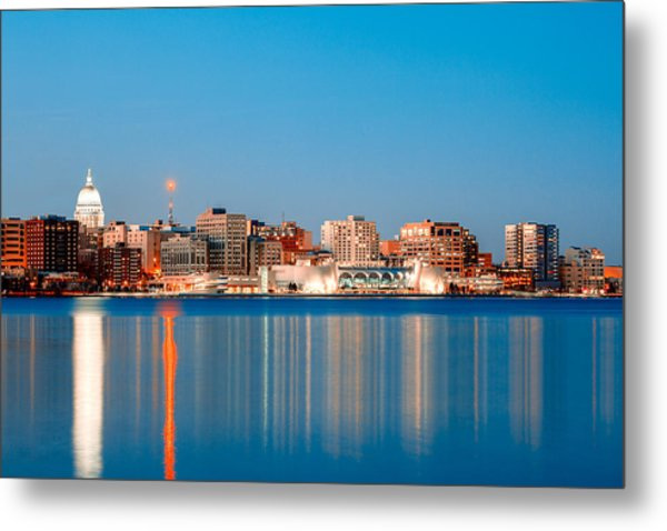 Madison Skyline Metal Print