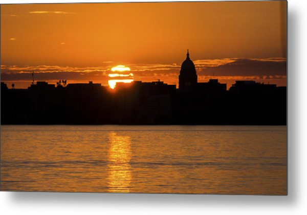 Madison Sunset Metal Print