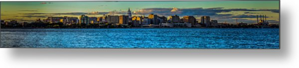 Madison Twilight Panorama Metal Print