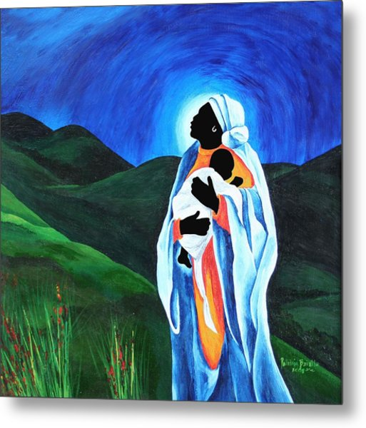 Madonna And Child  Hope For The World Metal Print