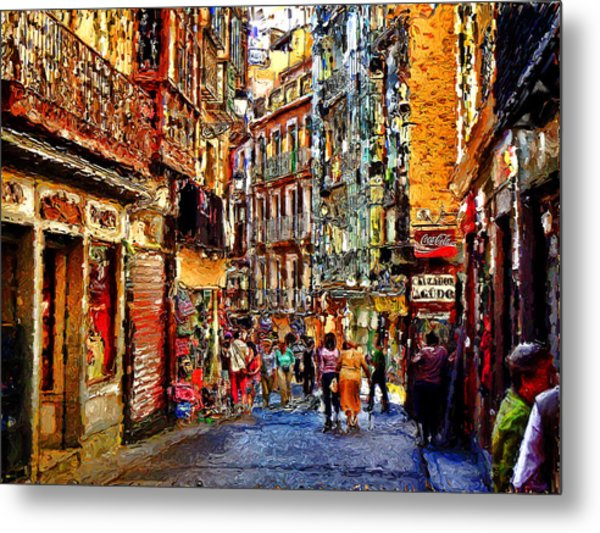 Madrid Lookers 2 Metal Print by Cary Shapiro