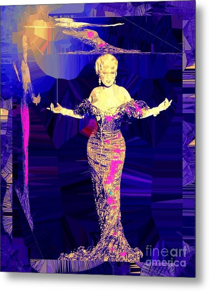 Mae West. Ladies Embrace Your Curves Metal Print