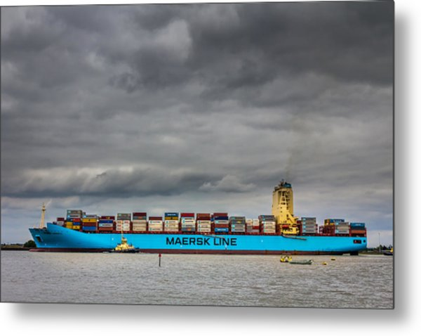 Maersk Container Ship. Metal Print