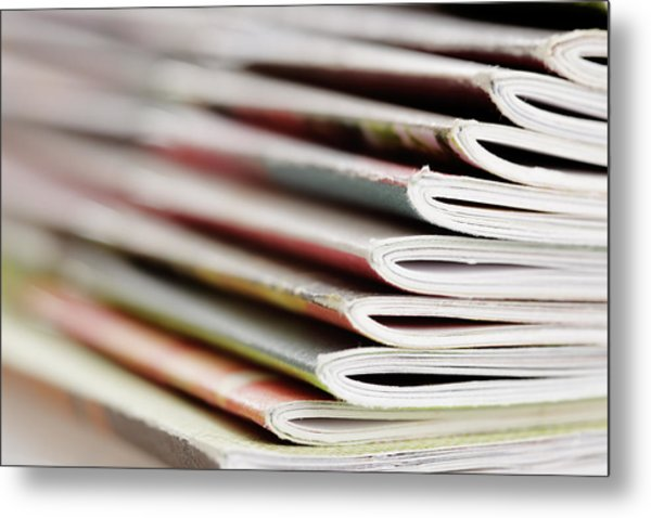 Magazines Metal Print by Temmuzcan