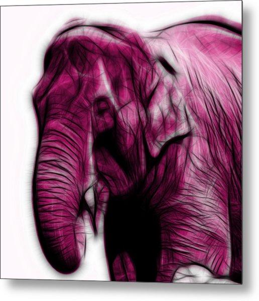Magenta Elephant 3374 - F - S Metal Print