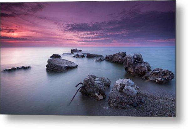 Magenta Morning Metal Print