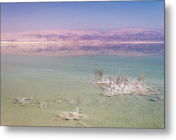Magic Colors Of The Dead Sea Metal Print