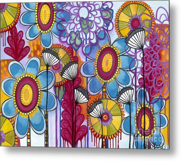 Metal Print featuring the painting Magic Garden by Carla Bank