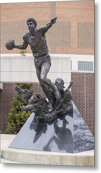 Magic Johnson Statue At Breslin  Metal Print