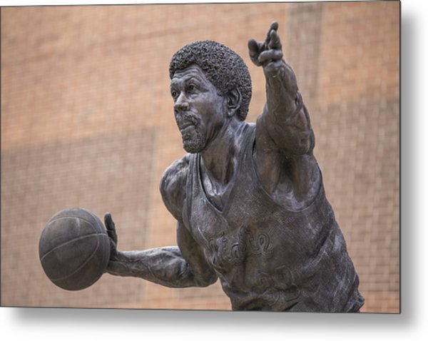 Magic Johnson Statue  Metal Print