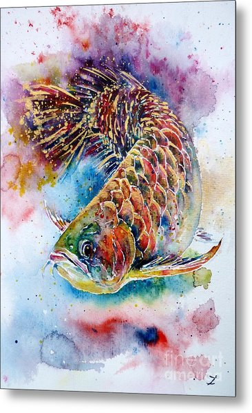 Magic Of Arowana Metal Print