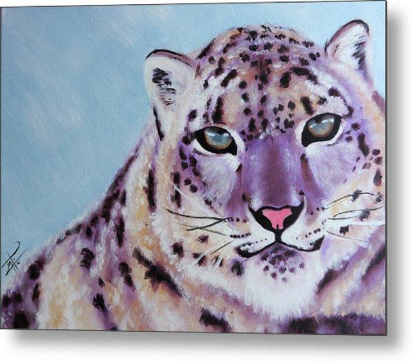Magic Snow Leopard Metal Print by Inti Garcia