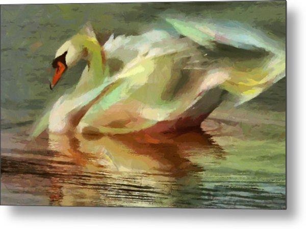 Magic Swan Metal Print