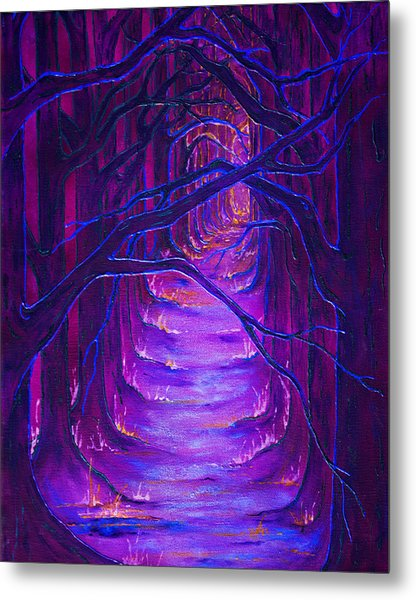 Magick Forest Metal Print by Luanna Swaney