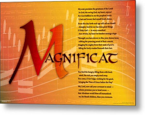 Magnificat Metal Print