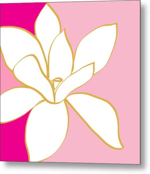 Magnolia 2- Colorful Floral Painting Metal Print