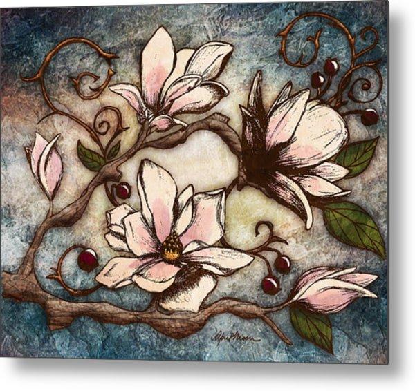 Magnolia Branch I Metal Print