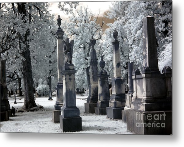 Magnolia Cemetery - Augusta Georgia - Confederate Military Graveyard  Metal Print by Kathy Fornal