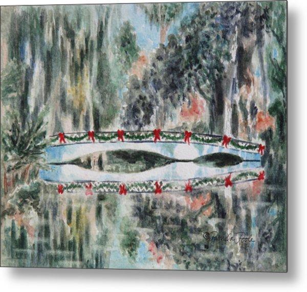 Magnolia Christmas Metal Print