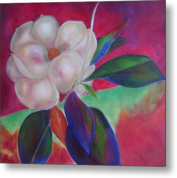 Magnolia I Metal Print by Susan Hanlon