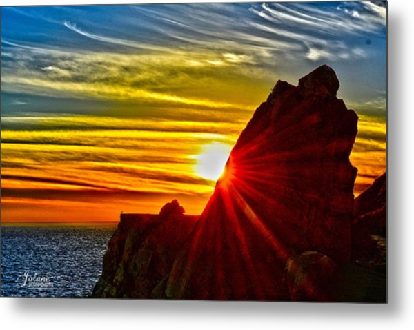 Mugu Rock Sunset Metal Print