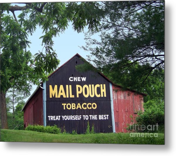 Mail Pouch Barn Framed Metal Print
