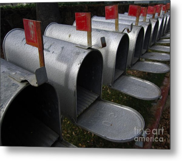 Mailboxes Metal Print by Dan Julien
