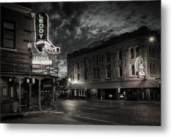 Main And Exchange Bw Metal Print