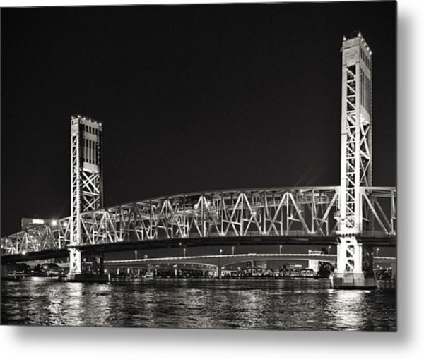 Main Street Bridge Jacksonville Florida Metal Print