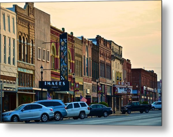 Main Street Denison Metal Print